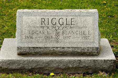 RIGGLE, EDGAR L - Richland County, Ohio | EDGAR L RIGGLE - Ohio Gravestone Photos