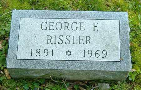 RISSLER, GEORGE F. - Richland County, Ohio | GEORGE F. RISSLER - Ohio Gravestone Photos