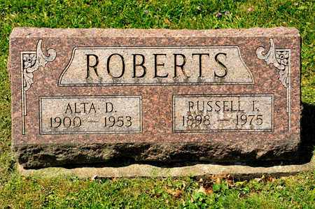 ROBERTS, RUSSELL I - Richland County, Ohio | RUSSELL I ROBERTS - Ohio Gravestone Photos