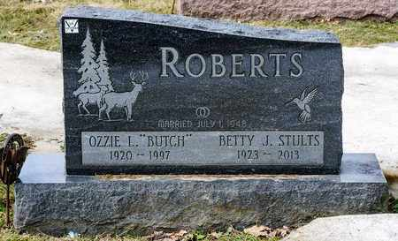 STULTS ROBERTS, BETTY J - Richland County, Ohio | BETTY J STULTS ROBERTS - Ohio Gravestone Photos