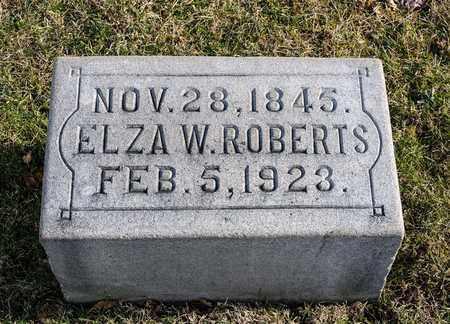 ROBERTS, ELZA W - Richland County, Ohio | ELZA W ROBERTS - Ohio Gravestone Photos