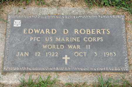 ROBERTS, EDWARD D - Richland County, Ohio | EDWARD D ROBERTS - Ohio Gravestone Photos