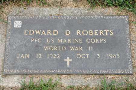 ROBERTS, EDWARD D - Richland County, Ohio   EDWARD D ROBERTS - Ohio Gravestone Photos