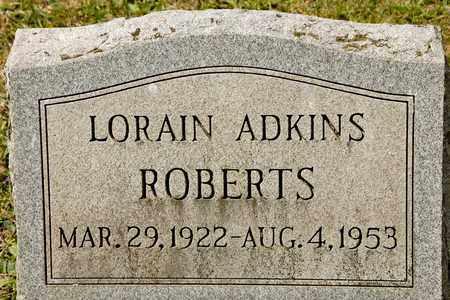 ADKINS ROBERTS, LORAIN - Richland County, Ohio | LORAIN ADKINS ROBERTS - Ohio Gravestone Photos