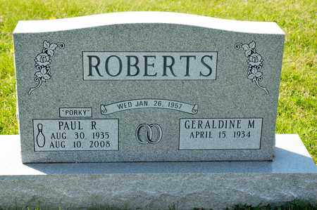 ROBERTS, PUAL R - Richland County, Ohio | PUAL R ROBERTS - Ohio Gravestone Photos