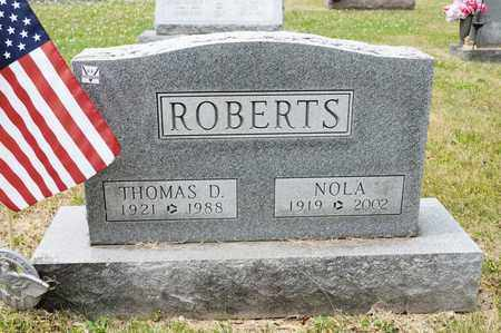 ROBERTS, THOMAS D - Richland County, Ohio | THOMAS D ROBERTS - Ohio Gravestone Photos