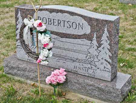 ROBERTSON, JENNIE A - Richland County, Ohio | JENNIE A ROBERTSON - Ohio Gravestone Photos