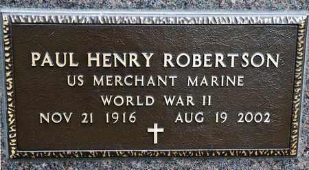 ROBERTSON, PAUL HENRY - Richland County, Ohio   PAUL HENRY ROBERTSON - Ohio Gravestone Photos
