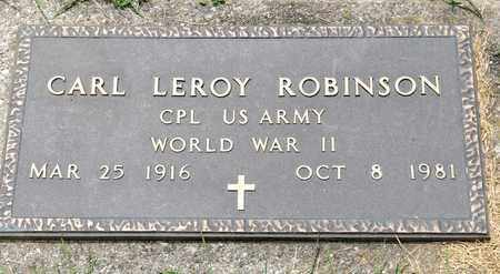ROBINSON, CARL LEROY - Richland County, Ohio | CARL LEROY ROBINSON - Ohio Gravestone Photos