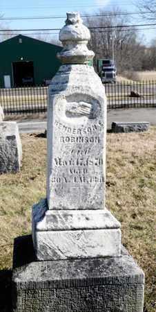 ROBINSON, HENDERSON E - Richland County, Ohio | HENDERSON E ROBINSON - Ohio Gravestone Photos