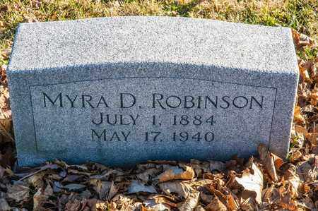 ROBINSON, MYRA D - Richland County, Ohio | MYRA D ROBINSON - Ohio Gravestone Photos