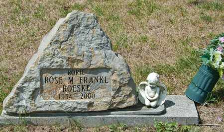 FRANKL ROESKE, ROSE M - Richland County, Ohio | ROSE M FRANKL ROESKE - Ohio Gravestone Photos