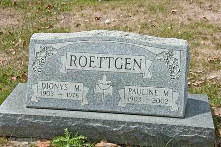 ROETTGEN, DIONYS M - Richland County, Ohio | DIONYS M ROETTGEN - Ohio Gravestone Photos
