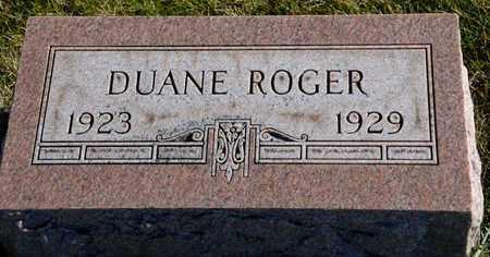 ROGER, DUANE - Richland County, Ohio | DUANE ROGER - Ohio Gravestone Photos