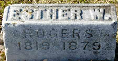 ROGERS, ESTHER W - Richland County, Ohio | ESTHER W ROGERS - Ohio Gravestone Photos