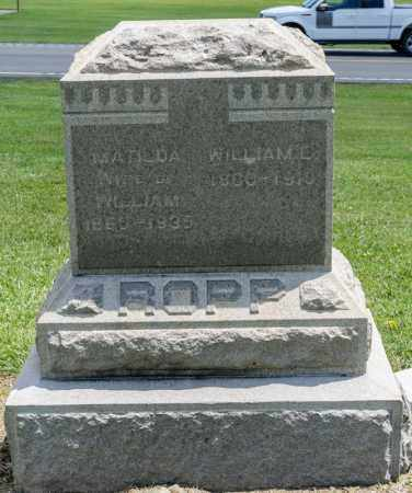 ROPP, MATILDA - Richland County, Ohio | MATILDA ROPP - Ohio Gravestone Photos