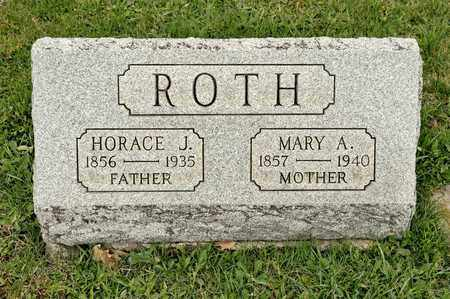 ROTH, HORACE J - Richland County, Ohio | HORACE J ROTH - Ohio Gravestone Photos