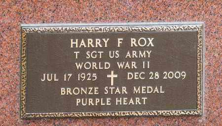 ROX, HARRY F - Richland County, Ohio | HARRY F ROX - Ohio Gravestone Photos