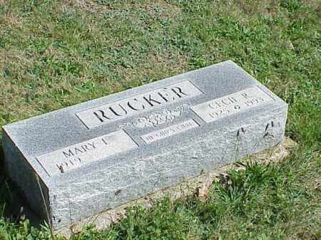 RUCKER, CECIL R. - Richland County, Ohio | CECIL R. RUCKER - Ohio Gravestone Photos