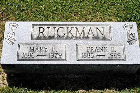 RUCKMAN, MARY E - Richland County, Ohio | MARY E RUCKMAN - Ohio Gravestone Photos