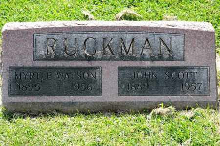 RUCKMAN, JOHN SCOTT - Richland County, Ohio | JOHN SCOTT RUCKMAN - Ohio Gravestone Photos