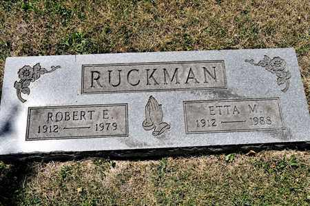 RUCKMAN, ETTA M - Richland County, Ohio | ETTA M RUCKMAN - Ohio Gravestone Photos
