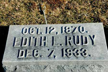RUDY, EDITH E - Richland County, Ohio | EDITH E RUDY - Ohio Gravestone Photos