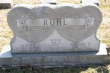 RUHL, WILLARD R - Richland County, Ohio | WILLARD R RUHL - Ohio Gravestone Photos