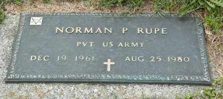 RUPE, NORMAN P - Richland County, Ohio | NORMAN P RUPE - Ohio Gravestone Photos