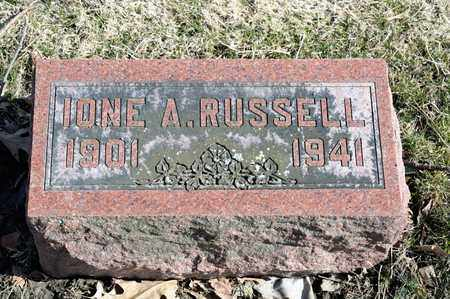 RUSSELL, IONE A - Richland County, Ohio | IONE A RUSSELL - Ohio Gravestone Photos