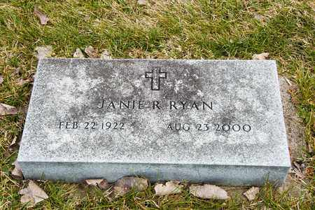 RYAN, JANIE R - Richland County, Ohio | JANIE R RYAN - Ohio Gravestone Photos