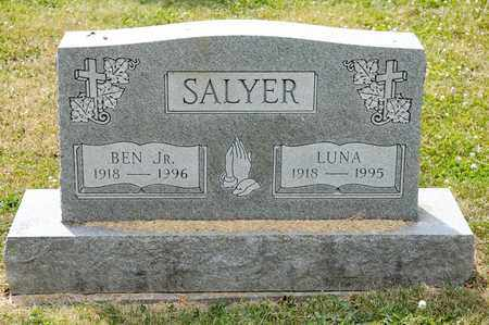 SALYER, LUNA - Richland County, Ohio | LUNA SALYER - Ohio Gravestone Photos