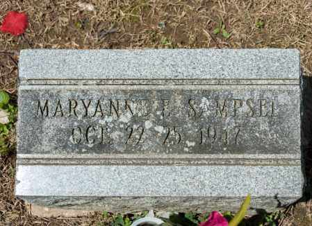 SAMPSEL, MARYANNE E - Richland County, Ohio | MARYANNE E SAMPSEL - Ohio Gravestone Photos