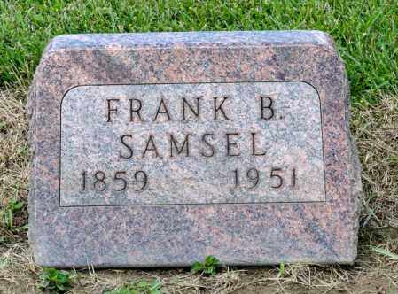 SAMSEL, FRANK B - Richland County, Ohio | FRANK B SAMSEL - Ohio Gravestone Photos