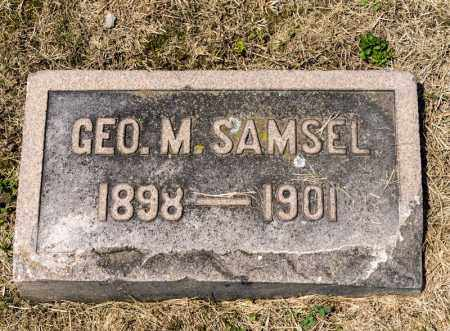 SAMSEL, GEORGE M - Richland County, Ohio | GEORGE M SAMSEL - Ohio Gravestone Photos