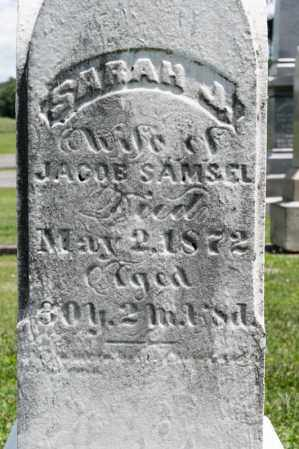 SAMSEL, SARAH J - Richland County, Ohio | SARAH J SAMSEL - Ohio Gravestone Photos