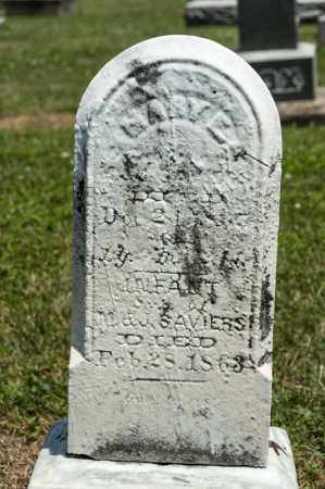 SAVIERS, MARY E - Richland County, Ohio | MARY E SAVIERS - Ohio Gravestone Photos