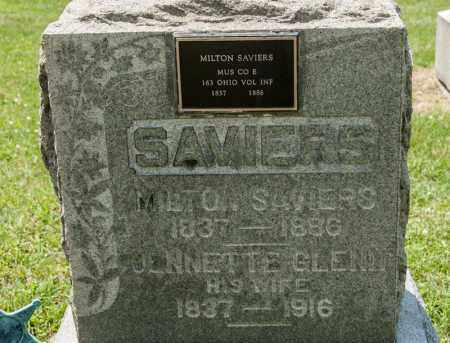 SAVIERS, MILTON - Richland County, Ohio | MILTON SAVIERS - Ohio Gravestone Photos