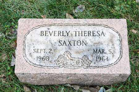 SAXTON, BEVERLY THERESA - Richland County, Ohio | BEVERLY THERESA SAXTON - Ohio Gravestone Photos
