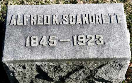 SCANDRETT, ALFRED K - Richland County, Ohio | ALFRED K SCANDRETT - Ohio Gravestone Photos