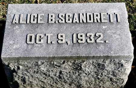 SCANDRETT, ALICE B - Richland County, Ohio | ALICE B SCANDRETT - Ohio Gravestone Photos