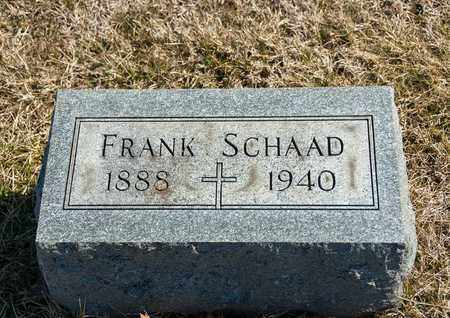 SCHAAD, FRANK - Richland County, Ohio | FRANK SCHAAD - Ohio Gravestone Photos