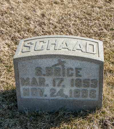 SCHAAD, S BRICE - Richland County, Ohio | S BRICE SCHAAD - Ohio Gravestone Photos
