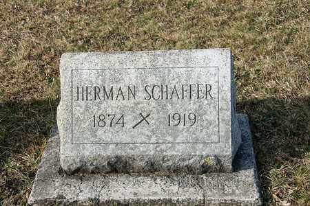 SCHAFFER, HERMAN - Richland County, Ohio | HERMAN SCHAFFER - Ohio Gravestone Photos