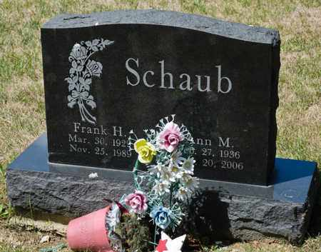SCHAUB, FRANK H - Richland County, Ohio | FRANK H SCHAUB - Ohio Gravestone Photos