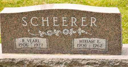 SCHEERER, MIRIAM E - Richland County, Ohio | MIRIAM E SCHEERER - Ohio Gravestone Photos