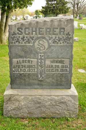 SCHERER, ALBERT - Richland County, Ohio | ALBERT SCHERER - Ohio Gravestone Photos