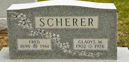 SCHERER, FRED - Richland County, Ohio | FRED SCHERER - Ohio Gravestone Photos