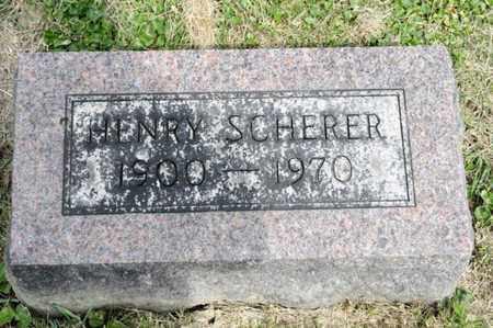 SCHERER, HENRY - Richland County, Ohio | HENRY SCHERER - Ohio Gravestone Photos