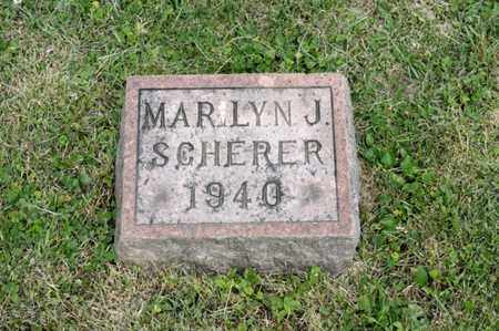 SCHERER, MARILYN J - Richland County, Ohio | MARILYN J SCHERER - Ohio Gravestone Photos